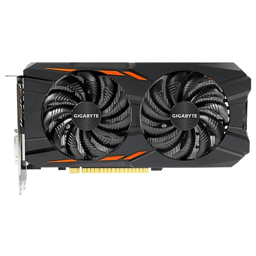 Изображение Видеокарта GIGABYTE GeForce GTX 1050 Ti Windforce OC 4G 'GV-N105TWF2OC-4GD' 4 ГБ GDDR5