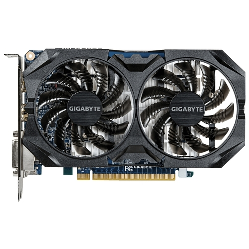 Изображение Видеокарта GIGABYTE GeForce GTX 750 Ti Windforce OC 4G 'GV-N75TWF2OC-4GI' 4 ГБ GDDR5