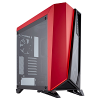 Изображение Корпус Corsair Carbide Series SPEC-OMEGA Tempered Glass Black/red 'CC-9011120-WW' БП: нет, красный